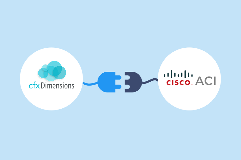 cfxDimensions integration with Cisco ACI brings advanced application