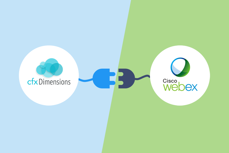 cfxDimensions integration with Cisco WebEx extends the